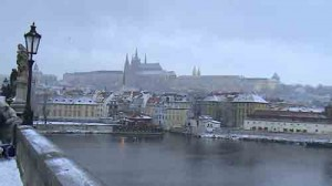 Snow on Prague Castle